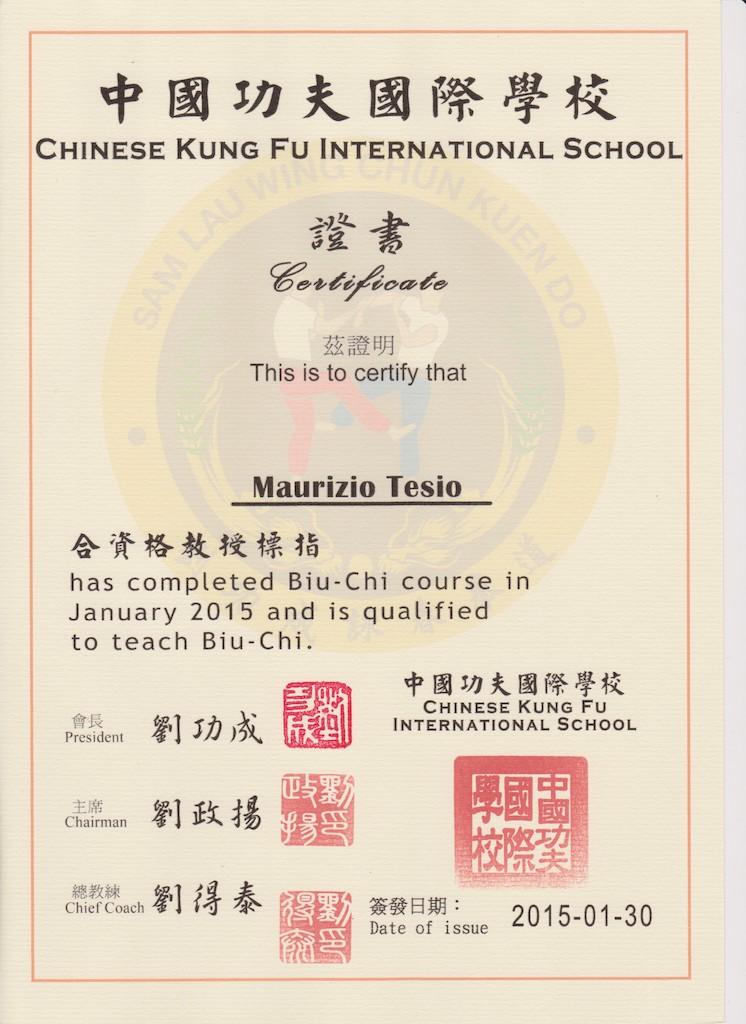 師父 Sifu Maurizio Tesio - Sam Lau Wing Chun Italia